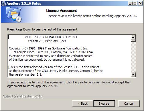 รูปที่2 หน้าประกาศลิขสิทธิ์ GNU/GPL License