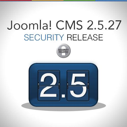 Joomla 2.4.27 Security released