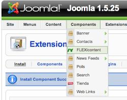หลังจากติดตั้งจะมี component ชื่อ FLEXIcontent