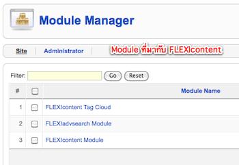 โมดูลที่มากับ FLEXIcontent