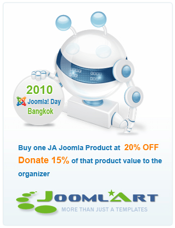20% OFF promotion program to fund Joomla Day Bangkok 2010