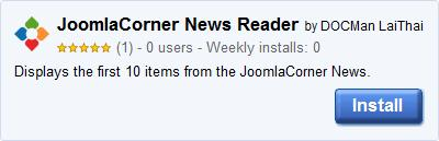 JoomlaCorner News Reader