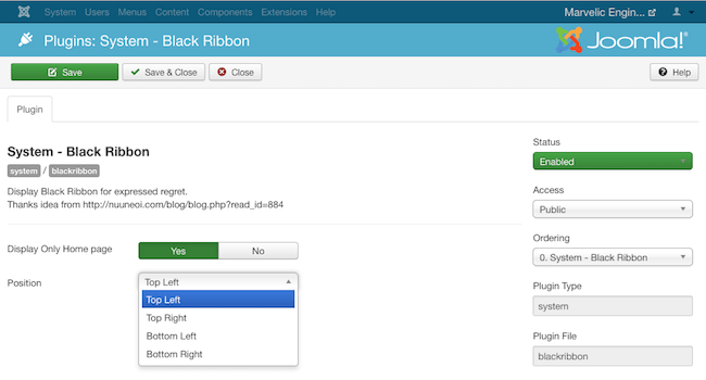 plugin-blackribbon