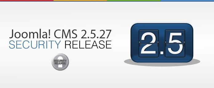 Joomla 2.5.27 Security Released